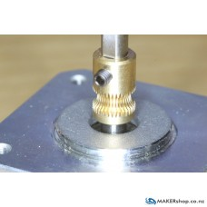 Hobbed Pulley 8mm - Brass