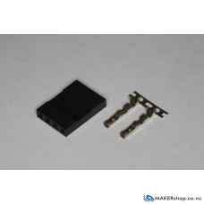 Dupont 4 pin Female Housing x5pcs with pins