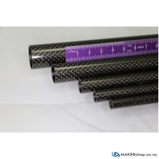 Carbon Fibre Tube 3K Plain Weave OD=22mm, ID=20mm