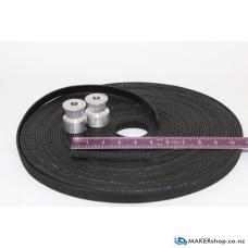 Timing Belt GT2 6mm Black Neoprene Rubber (per 100mm)